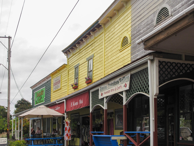 The small town of Honomu, on the Big Island's windward side.
