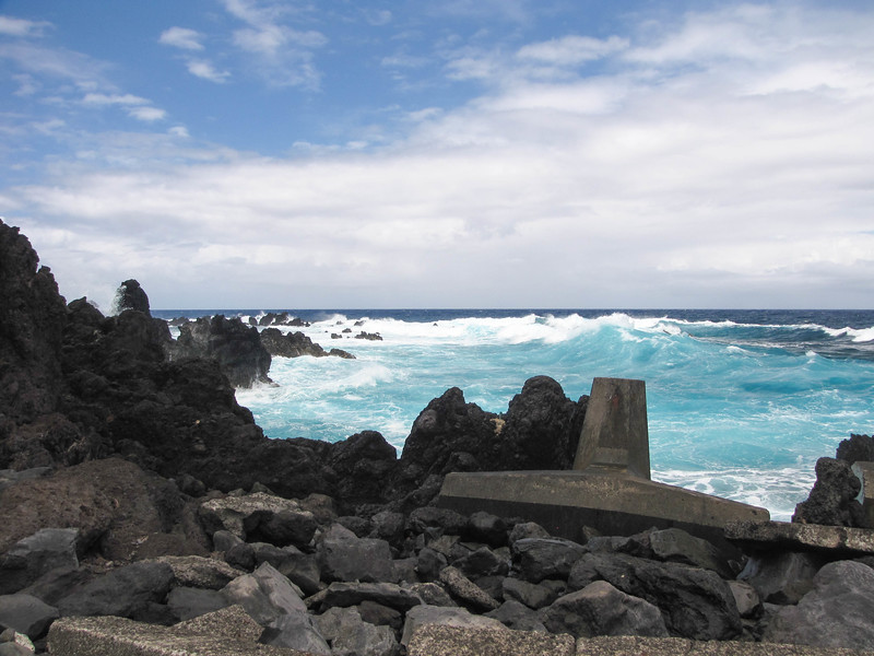 The former site of the town of Laupahoehoe, where a tsunami on April 1, 1946 killed 20 students and 4 teachers in the town's elementary school.