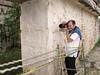 Wayne photographing a carving detail-Codz Poop, Kabáh [photo credit: Ian]