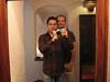 Ian and Wayne in the mirror at Villas Arqueológicas-Uxmal [photo credit: Ian]