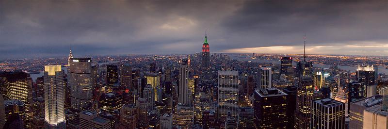 Pano from atop Rockefeller Center