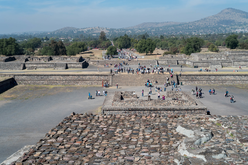 Plaza of the Pyramid of the Sun and the Avenue of the Dead