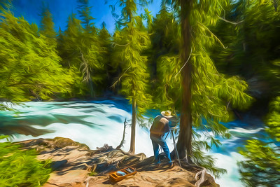 Painter at McDonald Falls