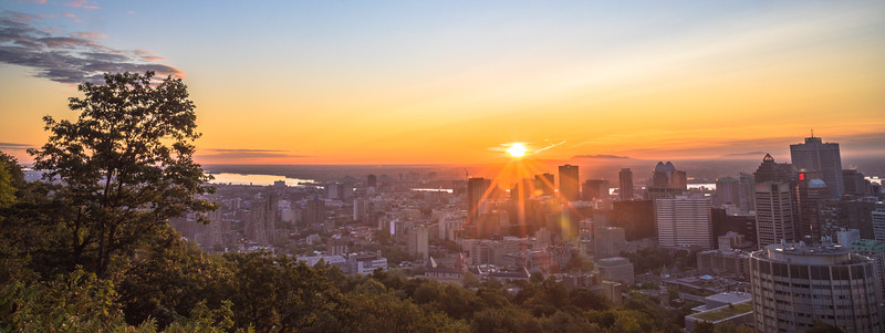 Montreal Sunrise Panorama