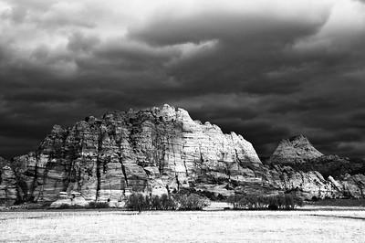 Stormy Skies B&W- Zion, UT