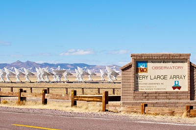 The entrance to the VLA