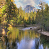 Half Dome over the Yosemite River