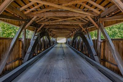 Inside an Authentic Covered Bridge - Taftsville, VT
