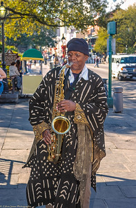 Sax Man at Cafe du Monde - 2000
