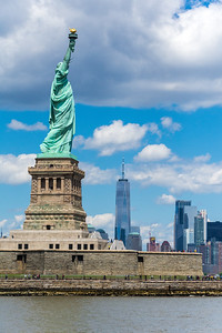 Statue of Liberty and the Manhattan skyline
