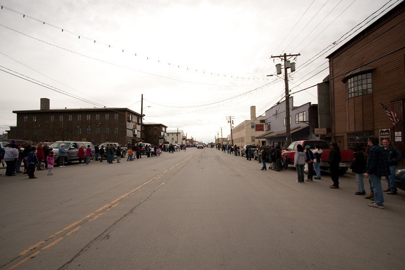 Lots of people on Front Street for the parade