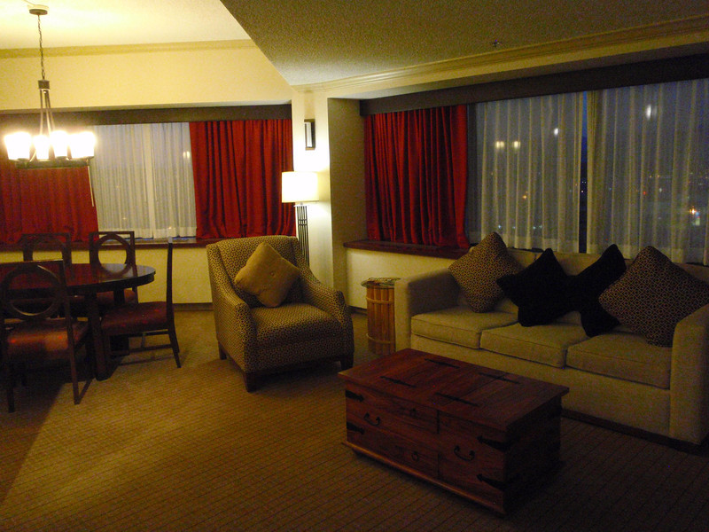 Upgraded to a gorgeous Mountain View suite at the Sheraton