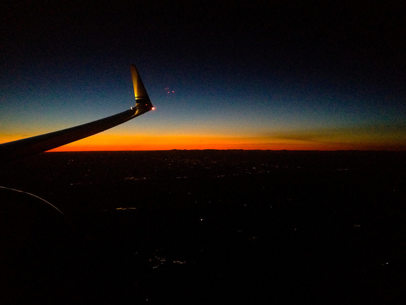 Flying into complete darkness for the first time in days!!
