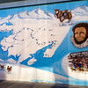 Mural of the Iditarod Trail Map....1049 Miles from Anchorage to Nome!