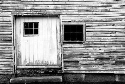 White Barn Door- Camden, ME
