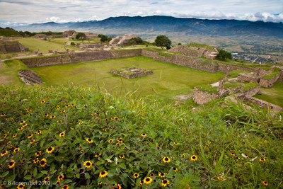 Monte Alban, Oaxaca, Mexico, Wet Season, 2010