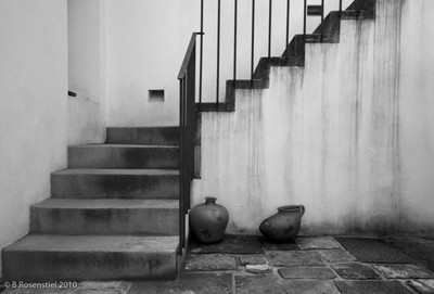 Pots and Stairs Courtyard, Oaxaca, MX, 2010