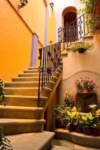 Restaurant Alquimia Courtyard, Oaxaca, MX, 2010