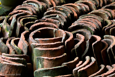 Roof Tiles Still Life, Teotitlan, MX, 2010
