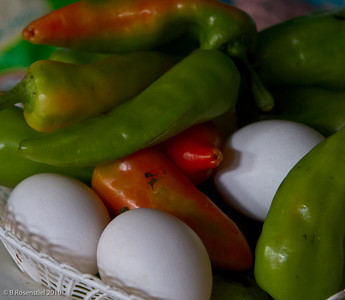 Peppers and Eggs Still Life, Teotitlan, MX, 2010