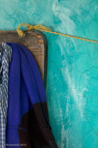 Blue Clothes Still Life, Teotitlan, MX, 2010
