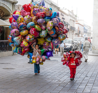 Balloon Girls, Oaxaca, Mexico, 2006