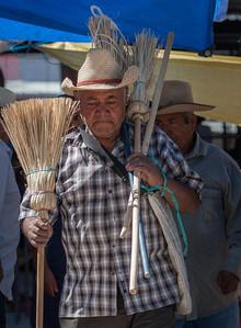 Broom Vendor, Sunday Market, Tlacolula, Mexico, 2006