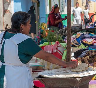 Tortillas, Sunday Market, Tlacolula, Mexico, 2005