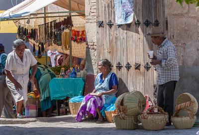 Basket Seller, Sunday Market, Tlacolula, Mexico, 2006
