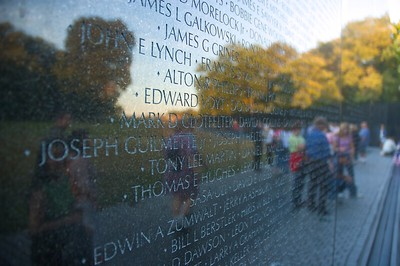 Names at the Vietnam Veterans Memorial