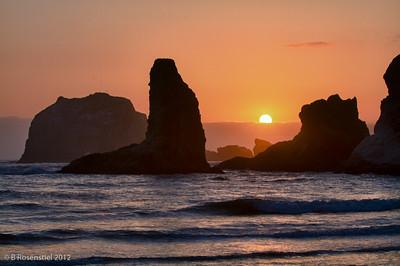 Bandon Sunset, Oregon, May, 2012