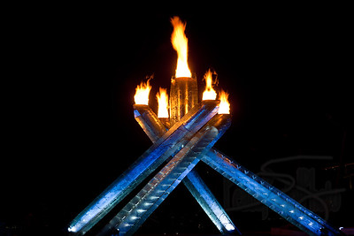 Olympic Cauldron. Vancouver 2010.