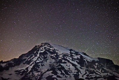 Perseid Meteor Shower at Mt. Rainier