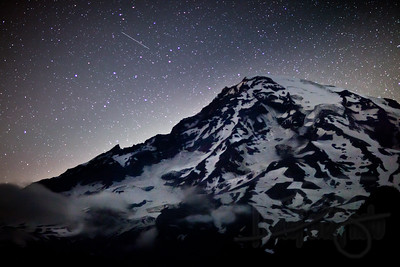 Perseid Meteor Shower at Mt. Rainier. WA