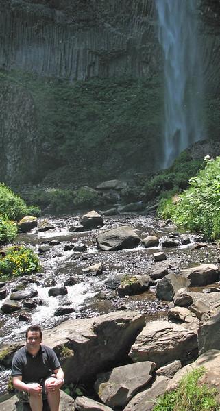 Aaron at Latourell Falls.
