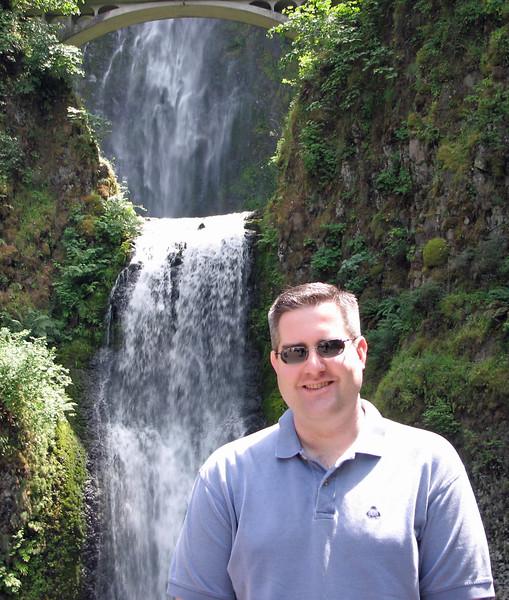 Me at Multnomah Falls.