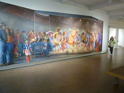 Large wall mural painting