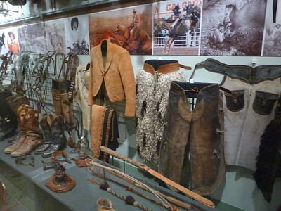 Old west paraphernalia in the Roswell Museum