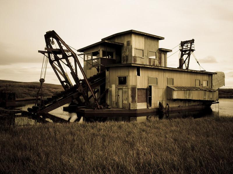 An old Gold Dredger | Nome