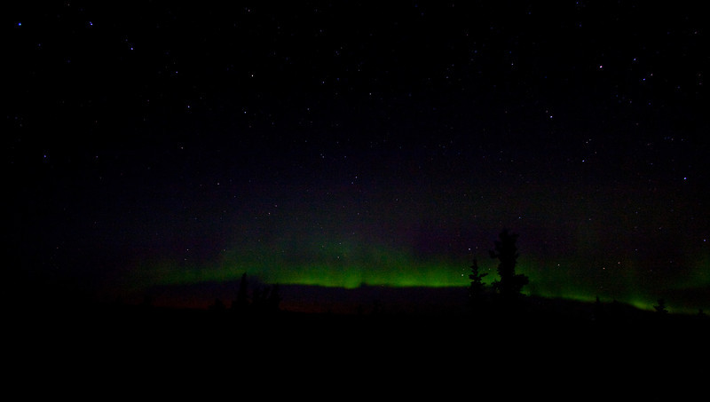 The Northern lights from the top of Ester Dome   Fairbanks