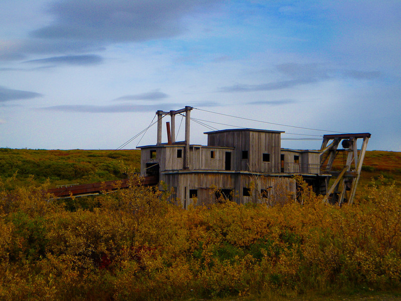 Old Gold Dredge on Council Road   Nome