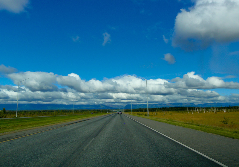 Driving up to Fairbanks
