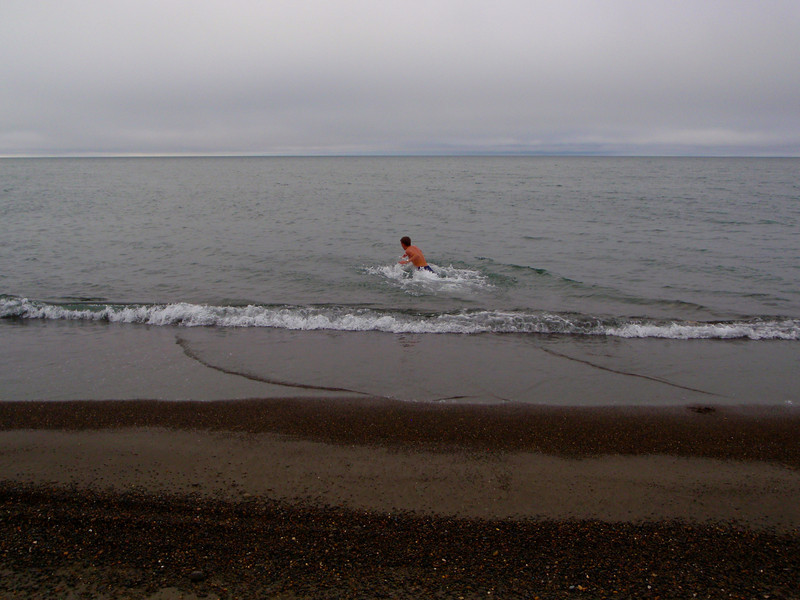 Going for a swim in the Arctic Ocean!! | Barrow