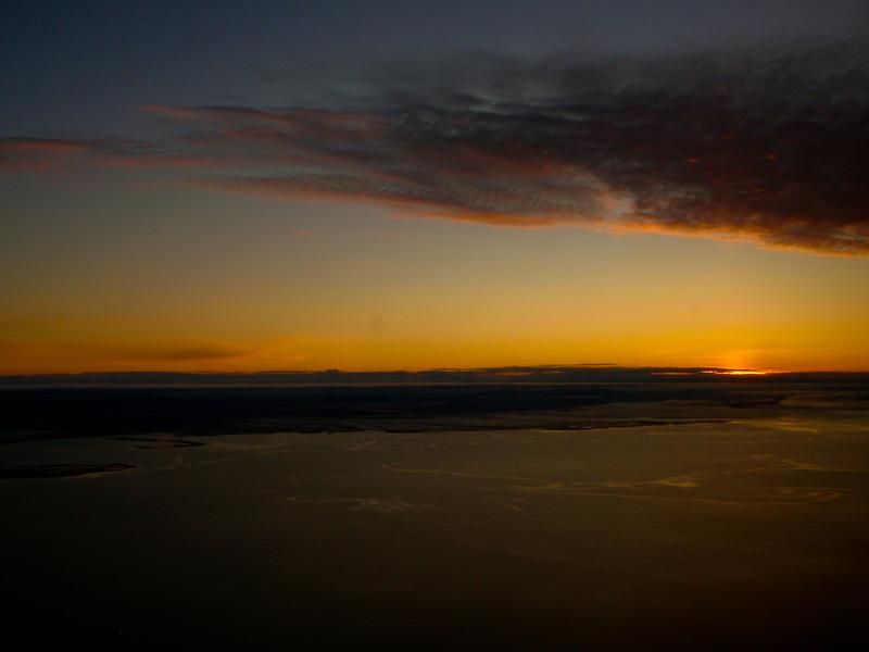 Sunrise enroute to Nome from Kotzebue