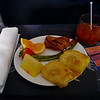 Breakfast on Alaska Airlines with a Bloody Mary :)