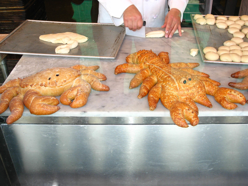 Sourdough crabs.