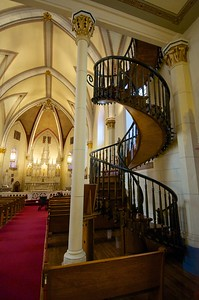 Back view of the staircase