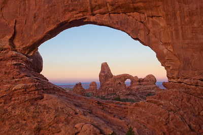 Turret Arch through North Window Arch. Arches National Park, UT.