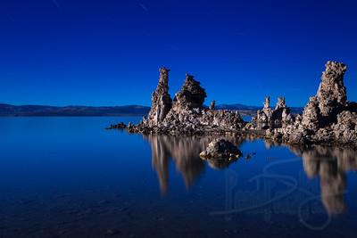 Moonlit tufas. Mono Lake, CA.