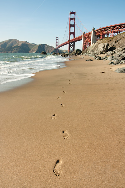 Golden Gate Bridge from Baker Beach. San Francisco, CA